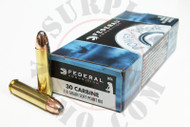 Surplus Ammo .30 Carbine 110 Grain SP Federal Power Shok Rifle Ammunition Soft Point Round Nose