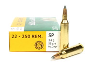 Surplus Ammo 22-250 Rem. 55 Grain SP Sellier & Bellot