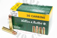 Surplus Ammo .30 Carbine 110 Grain FMJ Sellier & Bellot S&B Rifle Pistol Ammunition Full Metal Jacket