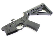 "Surplusammo.com | Surplus Ammo SA-15 ""Grim Reaper"" AR15 Complete Lower with Magpul MOE Furniture SAA-SA15GR-MOE"
