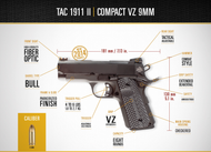 Rock Island Armory 9mm CS Tactical 1911 - Pistol - 51697 - M1911-A1 Tactical II VZ Grip