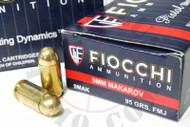 Surplus Ammo 9x18 Makarov 95 Grain FMJ Fiocchi