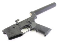 "Surplusammo.com | Surplus Ammo SAA - SA-15 ""Grim Reaper"" AR15 Complete Lower with Pistol Tube SAA-SA15GR-PL"