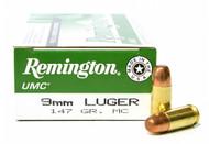 Surplus Ammo, Surplusammo.com  9mm Luger 147 Grain MC (FMJ) Remington UMC Ammunition