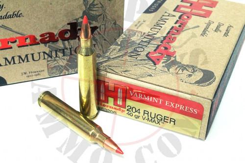 Surplus Ammo 204 Ruger 40 Grain V-Max Hornady Varmint Express