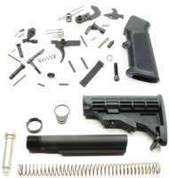 Surplus Ammo | Surplusammo.com DPMS AR15 Lower Parts Kit + Commercial Tapco AR15 T6-Stock Assembly - Black DPMS-LPK-TP-STK