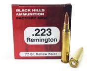 Surplusammo.com   Surplus Ammo .223 77 Grain Sierra Matchking HP Black Hills - 50 Rounds, NEW (BHD223N9