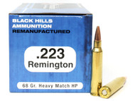 .223 68 Grain Heavy Match HP Black Hills - 1000 Rounds, Factory Reman. - FREE SHIPPING