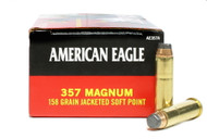 Surplus Ammo, Surplusammo.com 357 Magnum Ammo 158 Grain JSP Federal American Eagle Jacketed Soft Point Ammunition