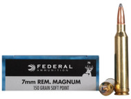 7mm Rem Mag 150 Grain Soft Point Federal Power-Shok - 20 Rounds