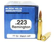 Surplus Ammo | Surplusammo.com .223 77 Grain Sierra Matchking HP Black Hills - 50 Rounds, Factory Reman BHD223R9