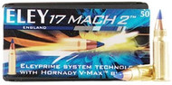 17 Mach 2 17 Grain Polymer Tip V-Max Eley - 50 Rounds
