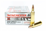 Surplus Ammo .22-250 Rem 55 Grain Pointed Soft Point Winchester Super-X