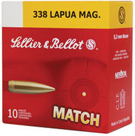 Surplus Ammo  .338 Lapua 300 Grain Sierra MatchKing HP-BT Sellier & Bellot