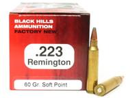 Surplus Ammo | Surplusammo.com .223 60 Grain SP Black Hills - 50 Rounds, NEW Red Box BHD223N4