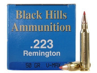 .223 50 Grain V-Max Black Hills - 50 Rounds, Factory Reman.