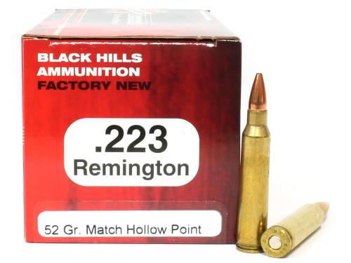 Surplusammo.com   Surplus Ammo .223 52 Grain Match HP Black Hills - 50 Rounds, NEW BHD223N3
