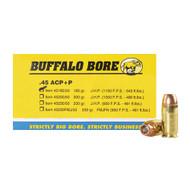 Buffalo Bore 45ACP Ammo 185 JHP +P Ammunition surplusammo.com
