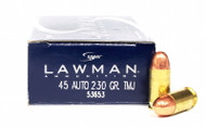 Surplus Ammo, Surplusammo.com 45 ACP 230 Grain TMJ Clean Fire Speer Lawman 53885