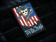 We The People - color PVC Velcro Morale Patch Surplus Ammo Colonial Skull