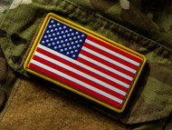 US Flag PVC Morale Patch Red, White & Blue Surplus Ammo