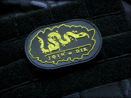 Join Or Die PVC Velcro Morale Patch Ben Franklin Surplus Ammo