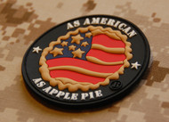 As American As Apple Pie PVC Morale Patch SurplusAmmo Velcro Patch
