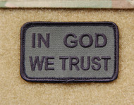 In God We Trust Embroidered Velcro Morale Patch