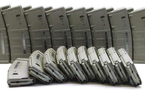 Magpul PMAG M2 MOE 30 Round Window Magazine - 10 pack Surplus Ammo Olive Drab Green MAG570 mag