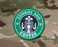 Zombies & Coffee PVC Morale Patch SurplusAmmo Velcro Patch