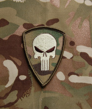 Punisher Velcro Embroidered Morale Patch Australia 2 Commando Surplus Ammo