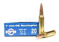 Surplus Ammo, Surplusammo.com 7mm-08 Rem 140 Grain PSP-BT Prvi Partizan
