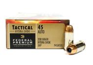 45 ACP 230 Grain JHP Federal Hydra-Shok Ammunition - 50 Rounds P45HS1G