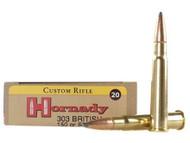 .303 British 150 Grain SP Hornady Custom Ammunition- 20 Rounds
