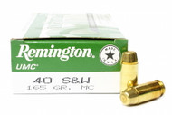 Surplus Ammo, Surplusammo.com 40 S&W 165 Grain MC (FMJ) Remington UMC Ammunition