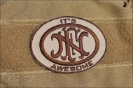 FN Awesome Embroidered Velcro Morale Patch Surplus Ammo