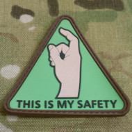 This Is My Safety PVC Morale Patch Booger Picker Finger Safety Keep Your Booger Picker Off The Bang Switch SurplusAmmo.com
