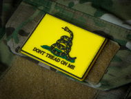 Don't Tread On Me - Yellow PVC Morale Velcro Patch Surplus Ammo
