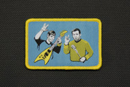 Rock Out With Your Spock Out Embroidered Velcro Backed Morale Patch Kirk & Spock Rocking On Surplus Ammo