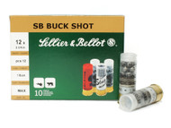 "Surplusammo.com | Surplus Ammo 12 Gauge Sellier & Bellot 2 3/4"" 1 Buckshot 12 Pellets SB12BSI, V212862U"