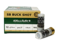 "Surplusammo.com | Surplus Ammo 12 Gauge Sellier & Bellot 2 3/4"" 4 Buck 27 Pellets SB12BSB SB12BSB, V075232U"