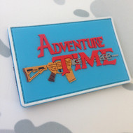 Adventure Time with an AR15 PVC Morale Patch Velcro backed surplusammo.com