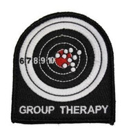 Group Therapy Embroyered Velcro Morale Patch Surplus Ammo Target