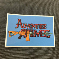 Adventure Time with an AR15 Sticker Peal & Stick surplusammo.com