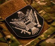 Peace Through Superior Firepower PVC Velcro Backed Morale Patch Surplus Ammo