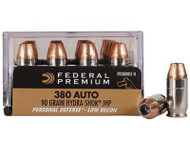 Surplusammo.com | Surplus Ammo 380 Auto 90 Grain Hydra-Shok JHP Low-Recoil Federal Premium - 20 Rounds FDPD380HS1 H