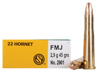 Surplus Ammo | Surplusammo.com .22 Hornet 45 Gr FMJ Sellier & Bellot