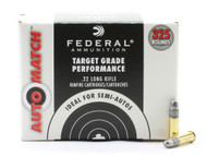 Surplus Ammo | Surplusammo.com Federal Automatch .22LR Rimfire Ammunition Lead Round Nose 22 Long Rifle AM22
