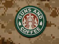 Guns & Coffee PVC Morale Patch SurplusAmmo Velcro Patch