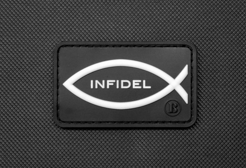 SurplusAmmo.com Christian Infidel - PVC Morale Patch Black, White Glow PVC Velcro Patch Glow In the Dark